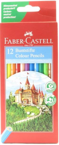 12 Faber Castell Holzbuntstifte